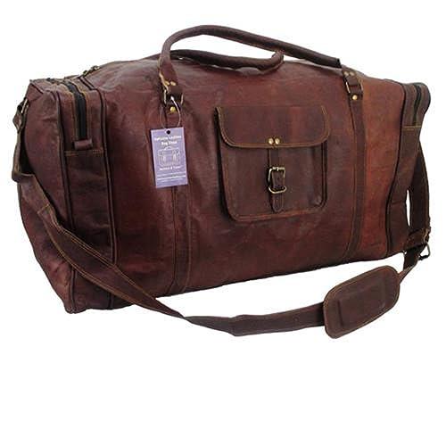 241b91a283 Classy Designs Leather Travel Bag Holdall Duffel Flight Cabin Bag Overnight  duffel Weekend Bag