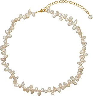 YorzAhar Freshwater Pearls Chokers Necklace Cultured AAA Quality Handpicked Pearls Strand Chain Necklace for Women Jewelry