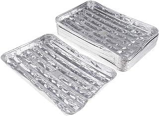 Prettyia 20pcs/set Disposable Aluminum Foil Pans Barbecue Grilling Trays Baking Plate
