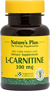 NaturesPlus L-Carnitine - 300 mg, 30 Vegetarian Capsules - Maximum Potency Amino Acid Supplement, Promotes Muscle Recovery...