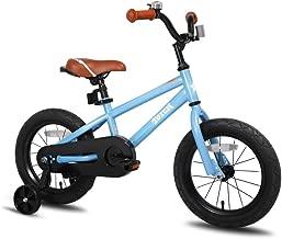 JOYSTAR Kids Bike with Training Wheels for 12 14 16 inch Bike, Kickstand for 18 inch Bike (Blue Beige Red Orange Pink Green) (Renewed)