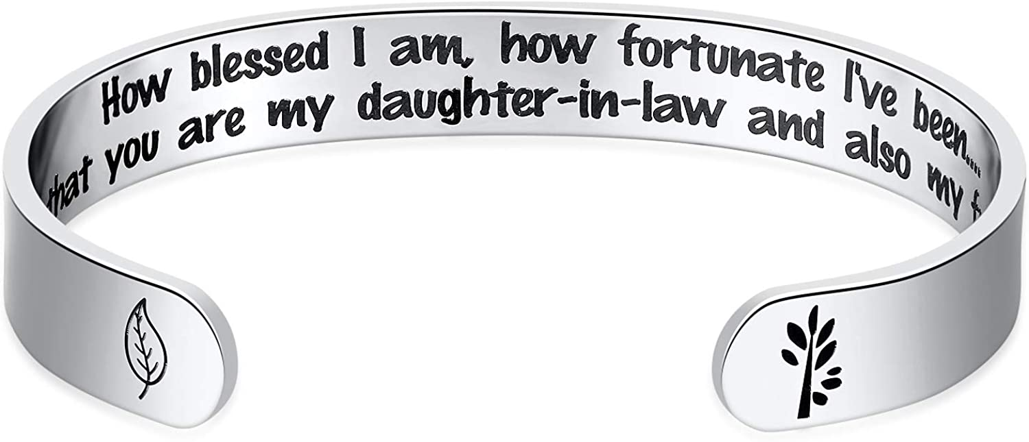 Hazado Daughter-in-Law Gifts Women Limited price Max 63% OFF Cuff Daughter Law Bangle in