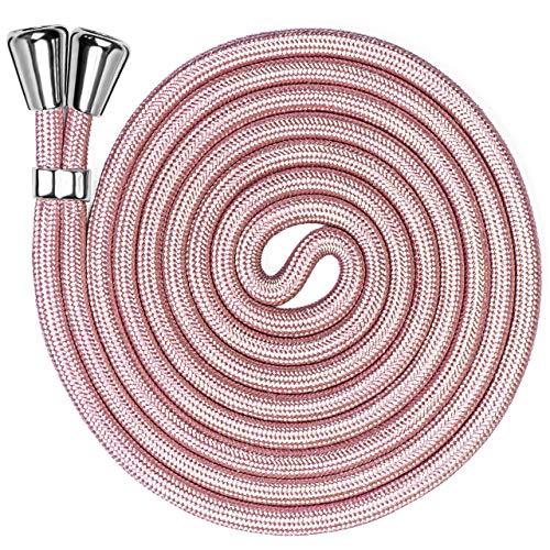 ONEFLOW Cordón de repuesto para todos los teléfonos móviles   Cadena para teléfono móvil sin funda - Elegante correa para colgar, ajustable hasta 155 cm   Cordón extra en oro rosa
