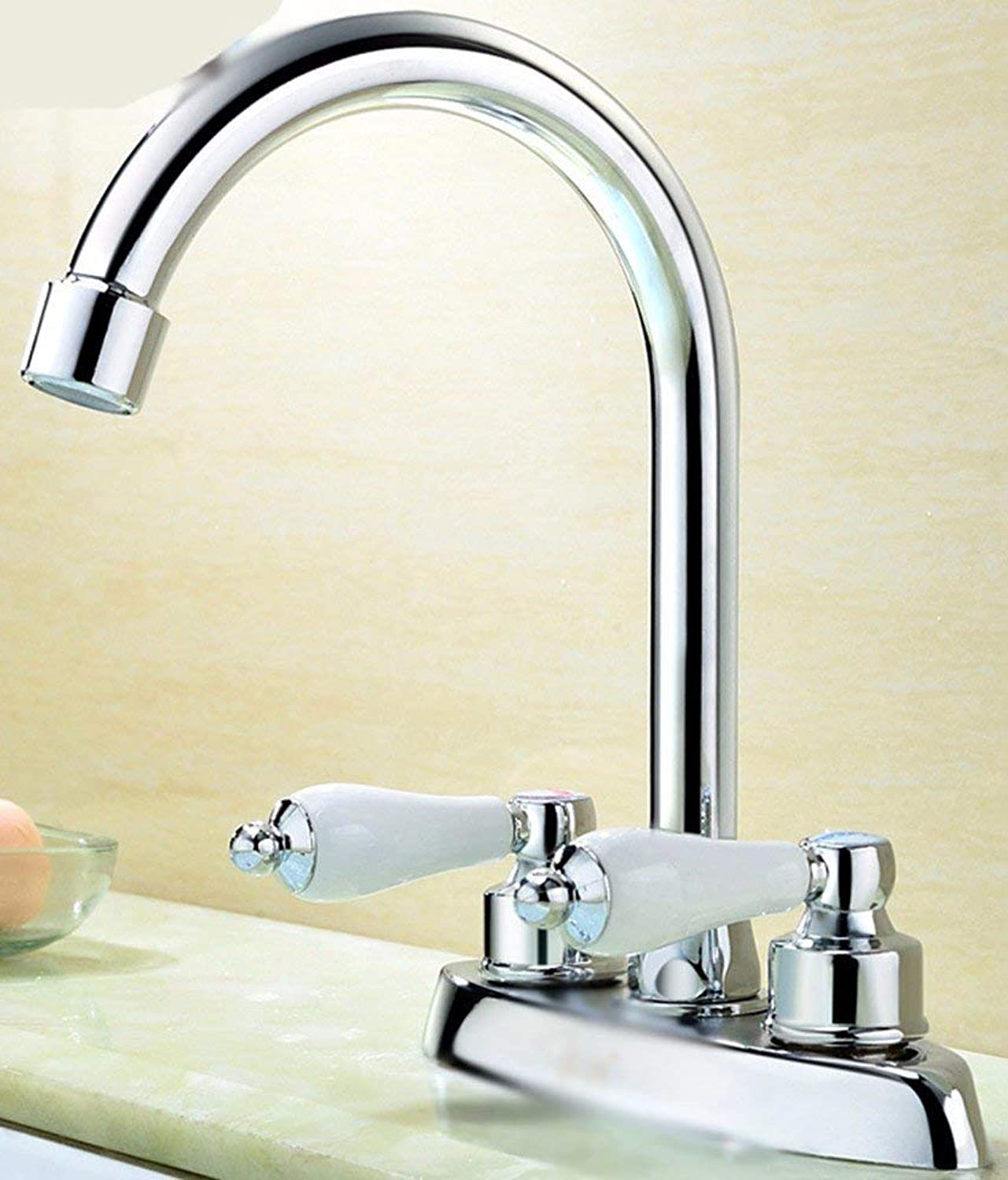 CFHJN HOME European style copper double hot and cold bathroom Washbasin Faucet