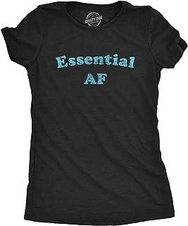 Crazy Dog T-Shirts Womens Essential AF Tshirt Funny Social Distance Quarantine Graphic Tee
