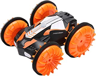 WITKA Amphibious RC Car, Waterproof RC Boats 2.4 GHz Off Road Remote Control Trucks, Toy Vehicles for All Adults and Kids, 360° Rotating / 180° Vertical Flip (Orange)