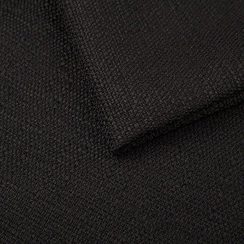 Pure Textilien Webstoff Strukturstoff Portland - Möbelstoff Polsterstoff Uni Meterware - schwarz 100