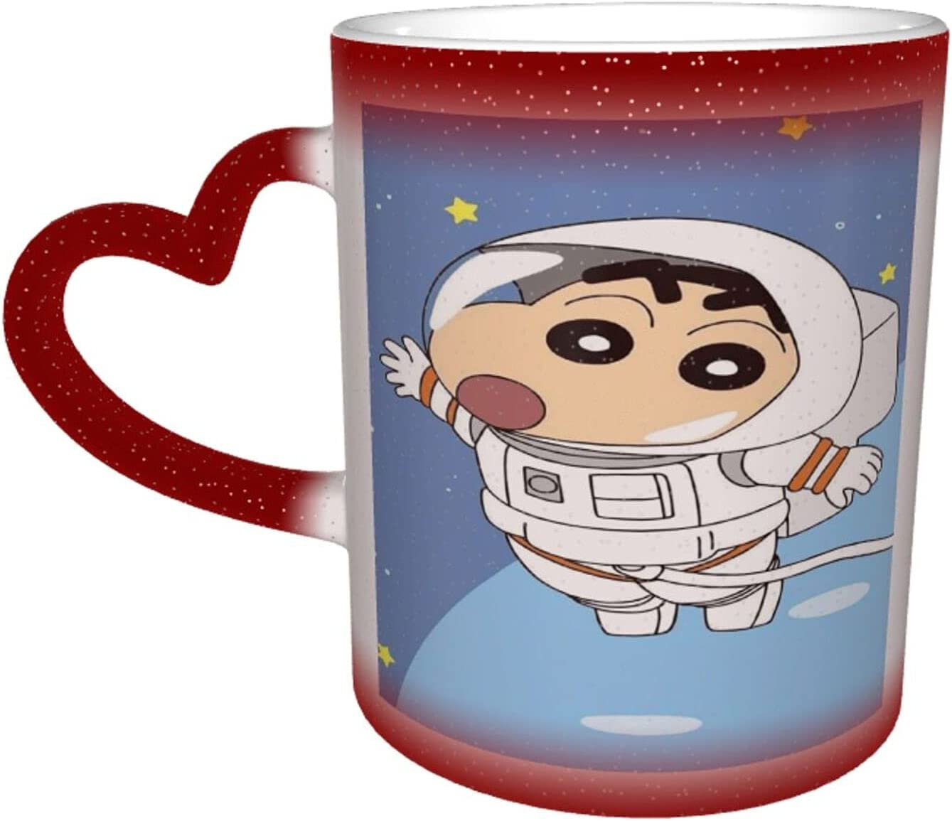 Max 85% OFF Crayon Shin-Chan Starry Sky Heat-Sens Color-Changing Cup Milwaukee Mall Ceramic