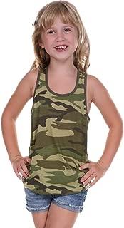 ! Little Girls 3-6X Camouflage Racer Back Tank