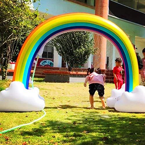 Alician New Juego de Agua al Aire Libre de Verano para niños Juguetes Inflables Aerosol de Agua Arco Iris Arco Puente