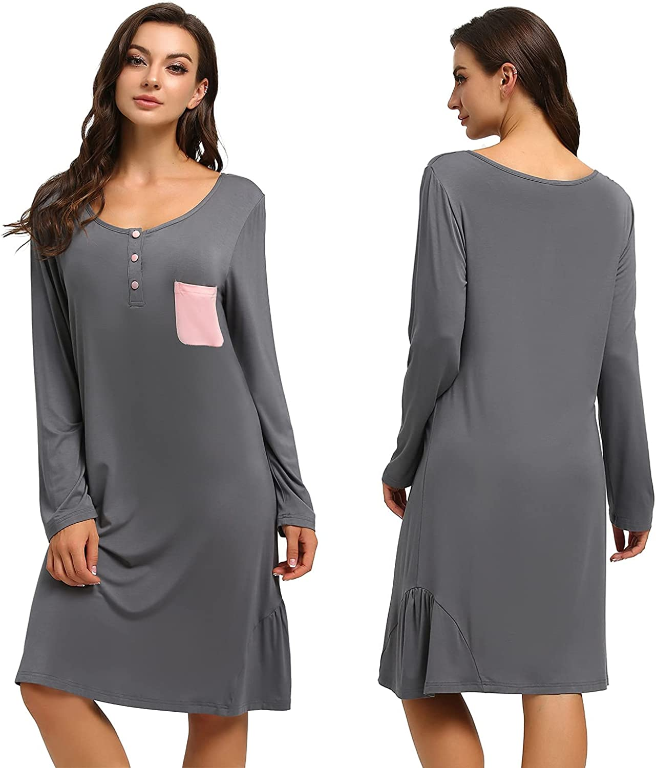 Night Shirts for Women Direct store Long Nightgowns Sleeve Pajamas Size Plus Import