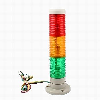 Amazon Com Uptell Industrial Red Orange Green Led Signal Tower Lamp Warning Light Dc 24v Home Improvement
