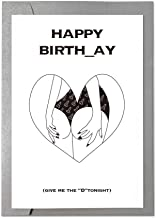 Ihopes Funny Happy Birthday Card Greeting Card   Naughty Birthday Card for Him   Funny Rude Love Gift Card for Boyfriend Husband Fiance