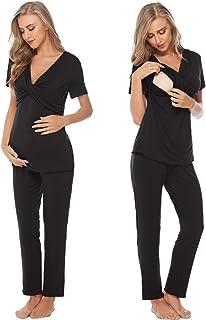 Lonshell Womens Maternity Sleeveless Nursing Side Open Breastfeeding Summer Tank Tops Maternity Pyjamas Nursing Nightwear