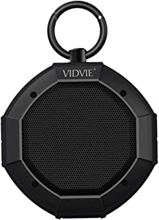 VIDVIE Waterproof/Shockproof Portable Bluetooth Wireless Shower Speaker Ultra Bass with Mic and POWERBANK