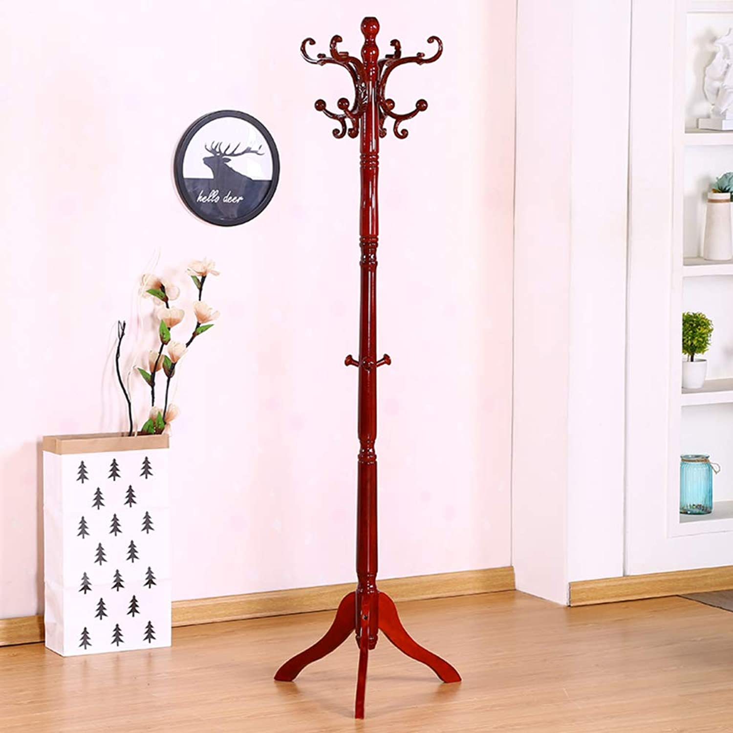 Solid Wood Coat Rack,Simple Free Standing Coat Tree,Perfect Touch for Your entryway Bedroom Kitchen Bathroom More-C 48x180cm(19x71inch)