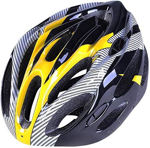 DXC Casco de bicicleta MTB con luz recargable, de seguridad ajustable, casco...
