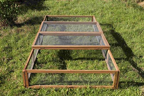 REPTILES PLANET Tortoise Park Enclos Extérieur pour Tortue 200 X 100 X 25 cm