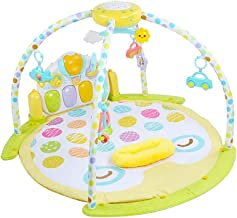 Baby Activity Gym Frame Cartoon Multifunctional Creative Blanket Pedal Piano Music Play Mat Piano Fitness Frame for Boys Girls