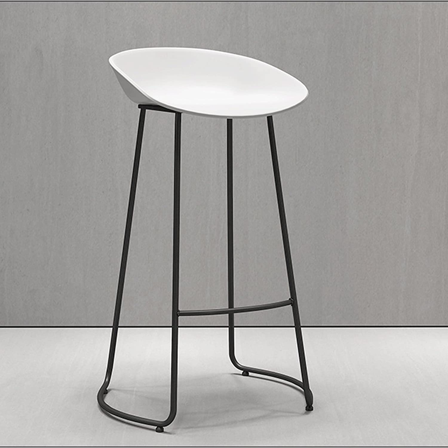 JHEY Nordic Style Simple Fashion bar Stool Casual Cafe Front Desk Stool (color   White)