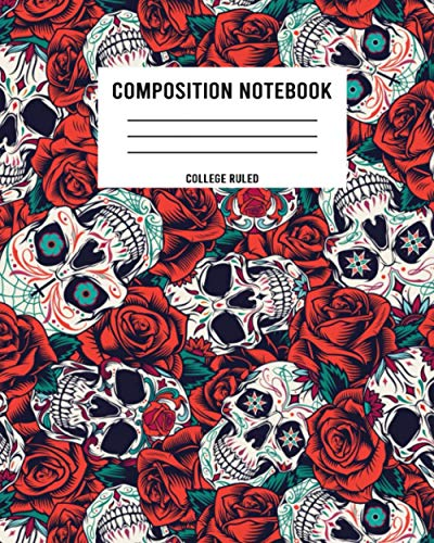 Composition Notebook College Ruled: Vintage Dia Muertos Patrones Fisuras Notebook with Matte...