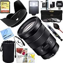 Sony (SELP18105G) E PZ 18-105mm f/4 G OSS Power Zoom Lens + 64GB Ultimate Filter & Flash Photography Bundle