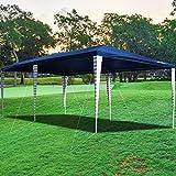 wolketon 3x6m Gazebo da Giardino Impermeabile, Alta Qualità, UV50+, Tenda per Giardino Feste Campeggio Festival Birra Picnic Matrimonio, Blu