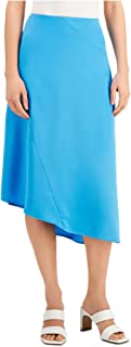 ALFANI Womens Turquoise Midi A-Line Skirt AU Size:10