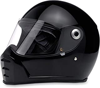 Biltwell Lane Splitter Helmet (MEDIUM) (Flat BLACK)