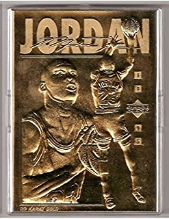 1995 Michael Jordan upper deck 23 KT gold foil sculptured trading card.