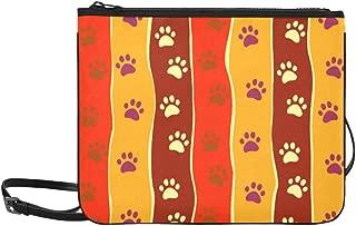 Bright Cats Dogs Paw Footprint Stripes Pattern Pattern Custom High-grade Nylon Slim Clutch Bag Cross-body Bag Shoulder Bag