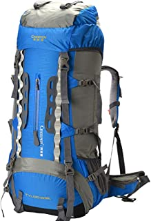 Men and Women Outdoor Travel Hiking Backpack Mountaineering Backpack Mountain Climbing Backpack (Color : Blue)