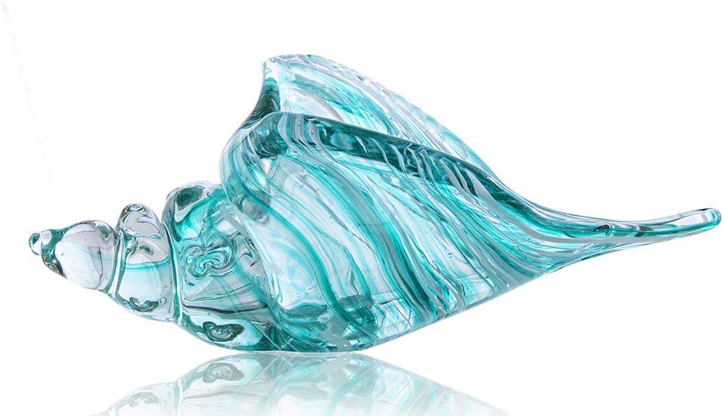 Hand Blown Glass Conch Seashell Decor Art Home セール特価 Sc Figurine 大特価