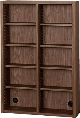 小島工芸 日本製 組立不要 健康仕様のFフォースター 耐荷重に優れた中がしっかりつまった丈夫な棚板 奥行20cm 薄型オープンシェルフ ESOP-75P ウォールモカ [幅75.2cm 高さ110.2cm] 2399157