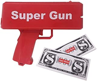 electric Money Gun Toy Novelty Cash Shooter Adult Teen Toy Spuer Gun Banknote Tool