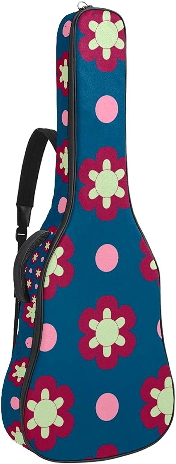 Acoustic Guitar Bag Floral Patterns Strap Shoulder Directly managed store Adjustable New product! New type Gu