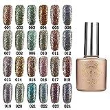 Bluelover 24 Colori Glitter Diamond-Scheggia Micro Grain Nail Art Smalto UV Gel Ammollo off Onirico - 4