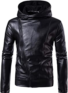 Leather Jacket Autumn&Winter Biker Motorcycle Zipper Warm Coat