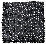 Wenko 20275100 Esterilla para Ducha Paradise Negro - Antideslizante, Plástico, Negro