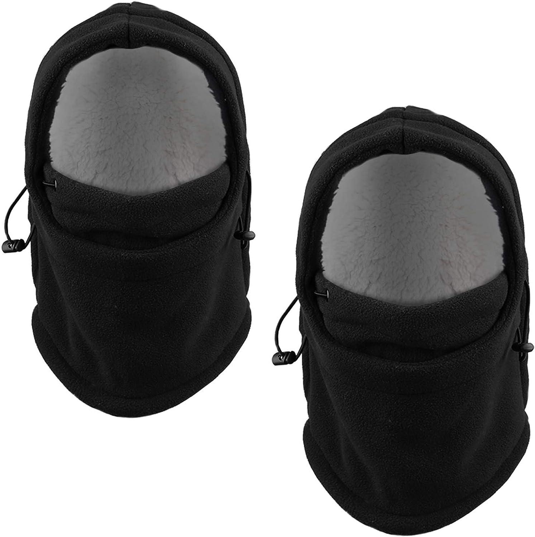 MAGARROW Kids Winter Cap Warm Face Cover Cold Weather Balaclava Boys Girls Hood 2-Pack