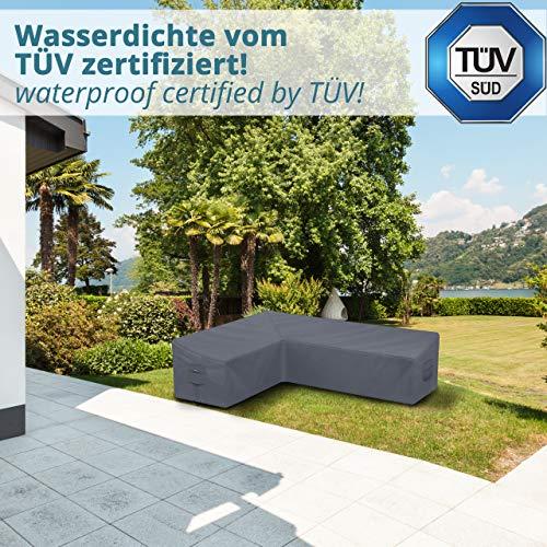 Abdeckung für L-Form Gartenmöbel & Loungemöbel 210x270x90cm Lounge Abdeckplane für L Form Gartenlounge - 4