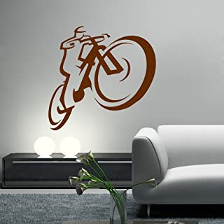 Decor Villa Cycle Art Wall Sticker & Decal (PVC Vinyl, Size- 58 cm x 58 cm), DVHS1153BL