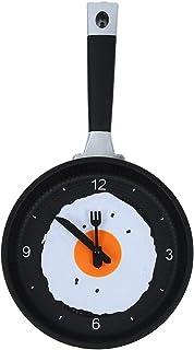 SODIAL(R) Reloj de Sarten con Huevo Frito - Reloj de Pared Novedad para Cocina - Verde