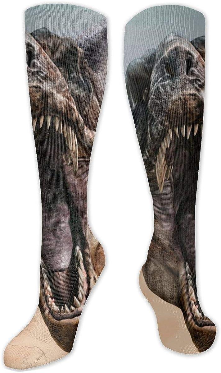 Tyrannosaurus Rex Knee High Socks Leg Warmer Dresses Long Boot Stockings For Womens Cosplay Daily Wear
