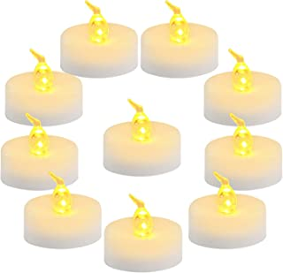 Homemory 100-Pack Battery Tea Lights Bulk, Flameless Flickering Tea Candles, Long-Lasting Battery Life, Amber Yellow, Ideal for Votive, Halloween, Parties
