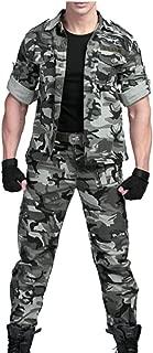 Maweisong Men's Pants Shirt Military Combat Trousers Set