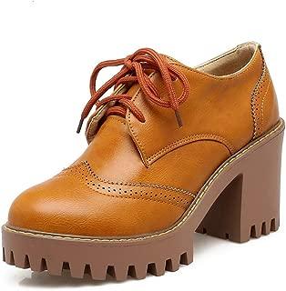 BalaMasa Womens APL12322 Pu Platform Heels