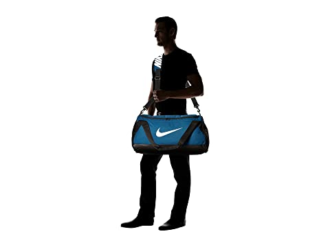 Duffel Medium Brasilia Blanco Force Blue Bag Nike Negro nBgw7g