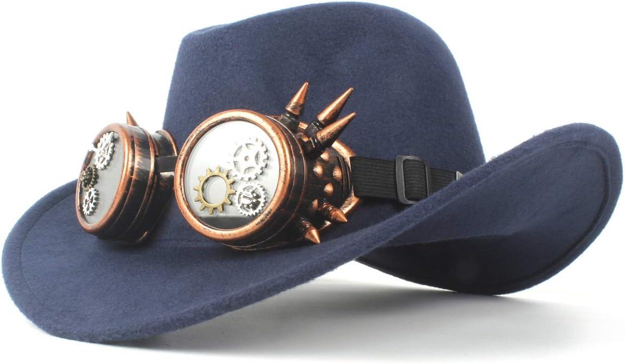 Wool San Jose Mall Felt Cowboy Hat Solid Color Glasses We Gear Retro Al sold out. Steampunk