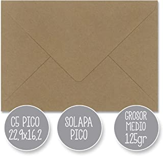 A5 148mmx210mm C5 162x229mm material papel kraft Kraft Natural Brown sobres y postales en blanco tama/ño A5 Cranberry Card Company